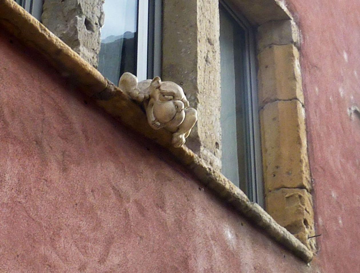 Gargouille Montée du Gourguillon Lyon