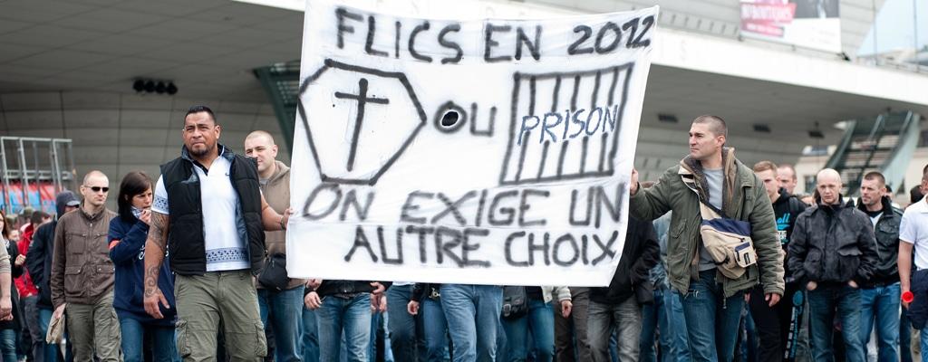 Manifestation de policiers en colere - Paris-040512