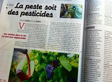 300 fois plus de résidus de pesticides dans le vin que dans l'eau potable