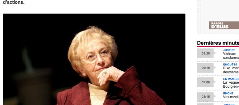 Département du Rhône : sa présidente Danielle Chuzeville quittera la vie politique en 2015