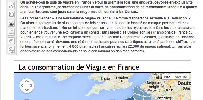 Une passion médiatique locale : «qui est le champion de France de la consommation de Viagra ?»