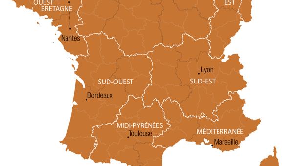 Voici ce à quoi pourrait ressembler une France de 10 régions