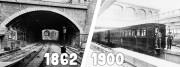 Métro à Lyon, en 1862 et métro à Paris, en 1900. Par CityCrunch.