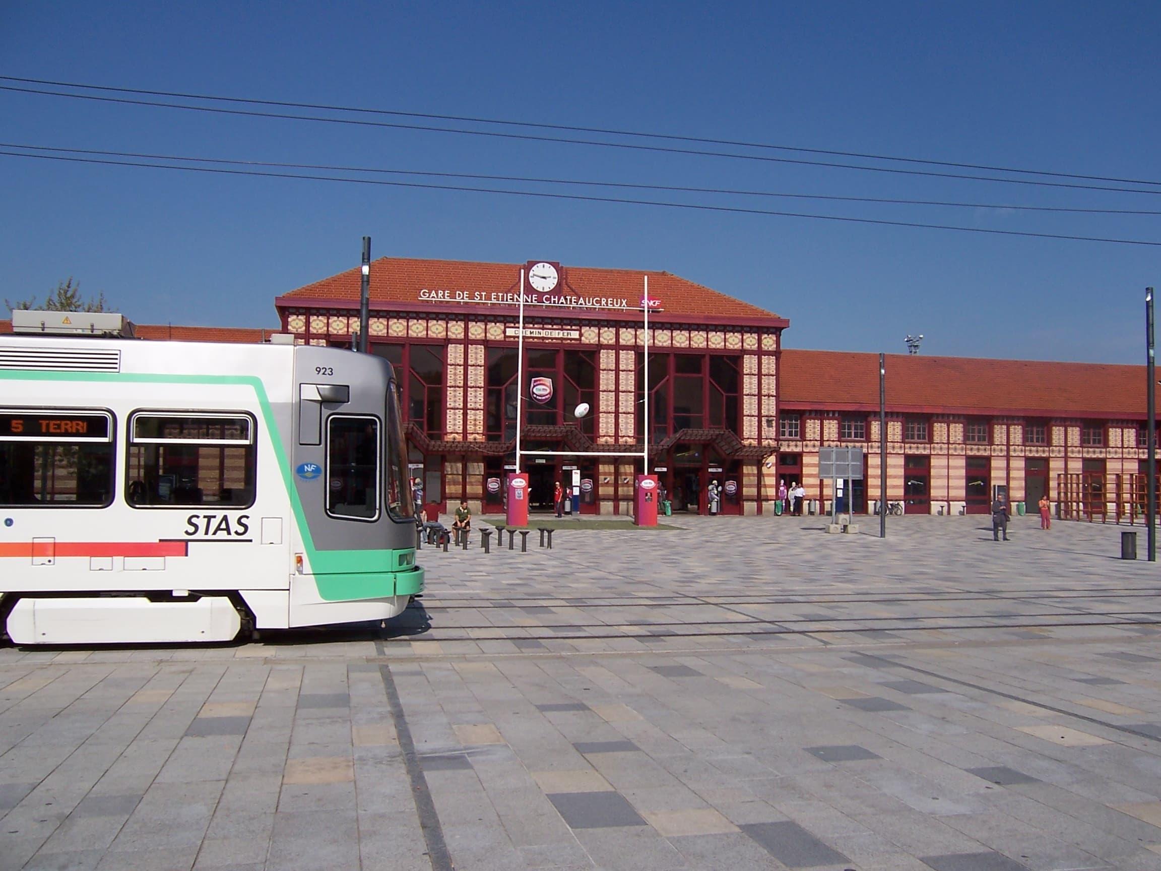 Gare de Saint-Etienne Châteaucreux.