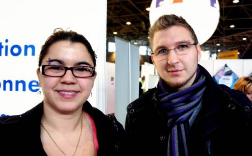 Tifanny et Cyril au Mondial des Métiers de Lyon. crédits photo Camille Romano/Rue89Lyon