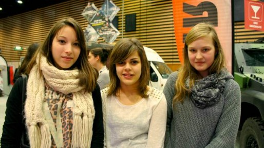 Alison, Fiona et Mathilde au Mondial des Métiers à Lyon. Crédits photos Camille Romano/Rue89Lyon