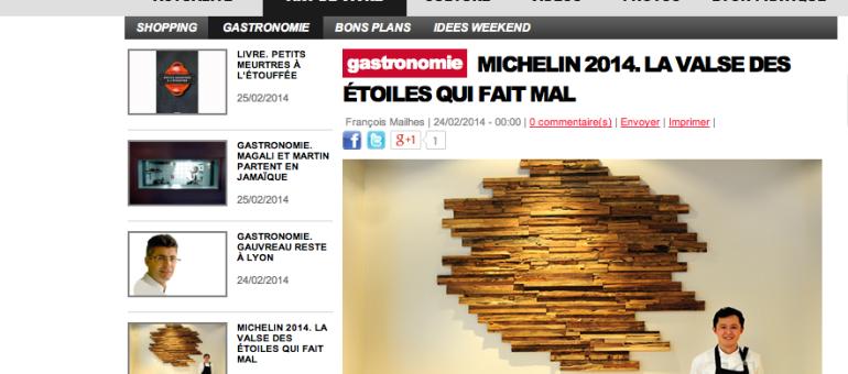 Michelin 2014 : le départ d'un deux étoiles à Lyon est un coup dur pour la «capitale de la gastronomie»