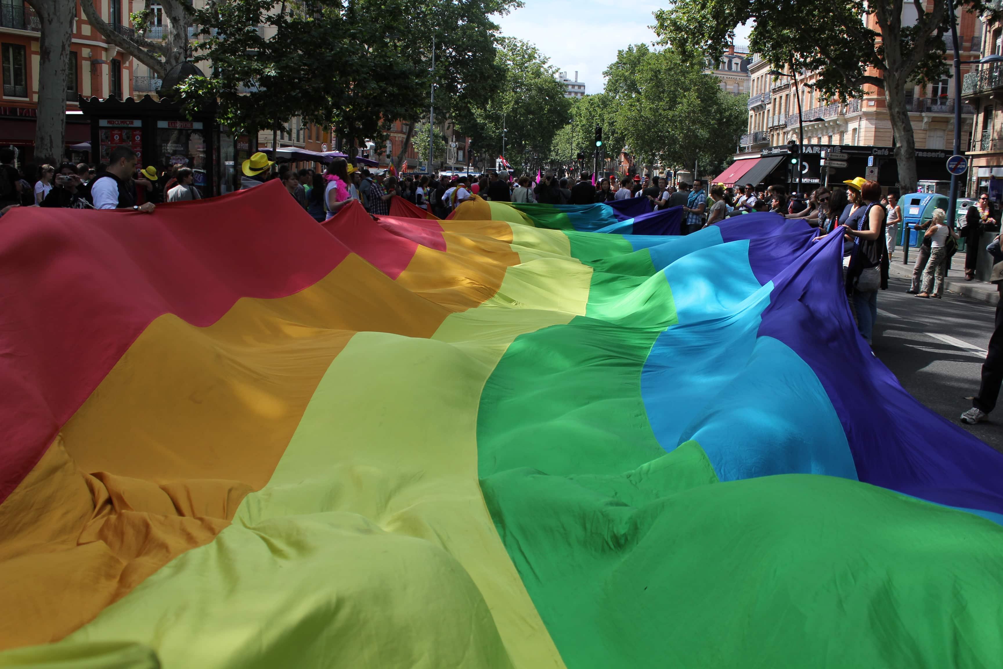 Manifestation LGBT. Crédits : Léna
