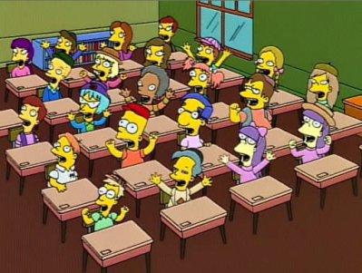 Bart Simpson à l'école.