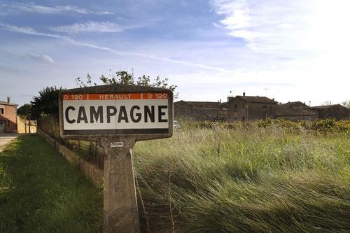 Panneau de la commune de Campagne en Camargue