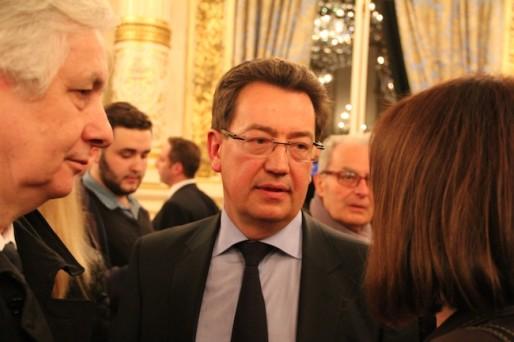 Philippe Cochet, réélu dès le premier tour à Caluire, se félicite en tant que président de l'UMP du Rhône de la vague bleue dans le Grand Lyon. Crédit : Pierre Maier.