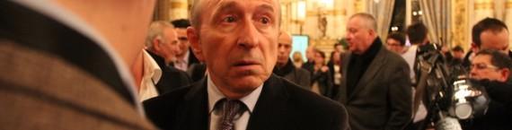 Gérard Collomb joue son fauteuil de maire à Lyon. Il est en pôle position avant le second tour des élections. Crédit : Pierre Maier/Rue89Lyon.