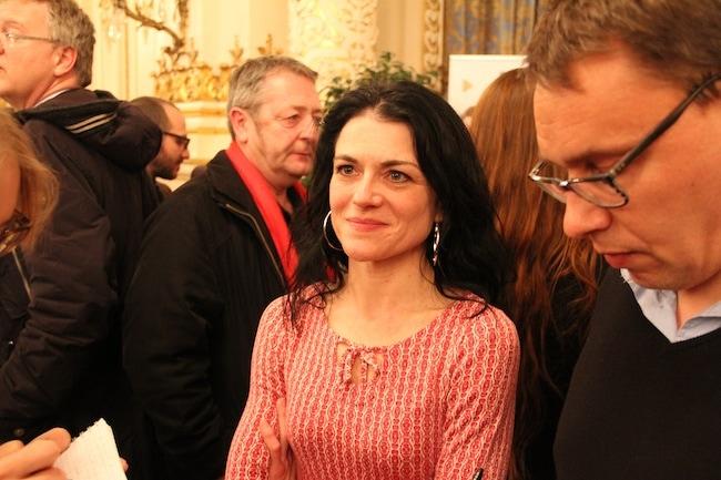 Nathalie Perrin-Gilbert, candidate Front de gauche-Gram en tête dans le 1er arrondissement de Lyon. Crédit : Pierre Maier.