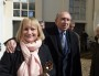 Gérard et Caroline Collomb, à la sortie de leur bureau de vote, dimanche 23 mars à Lyon. Crédit : Rue89Lyon