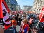 Le rassemblement contre l'austérité et le pacte de responsabilité se tenait place de la Bourse, aux Cordeliers. Crédits Richard Mouillaud pour Le Progrès