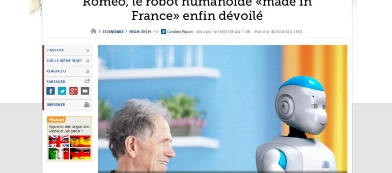 Roméo, le robot «made in France» dévoilé à Lyon