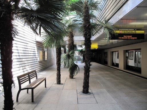 La station de métro de Vaulx-en-Velin La soie. Crédits Archipel CDCU