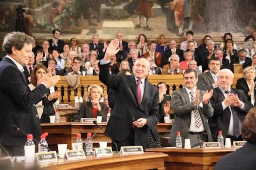 Gérard Collomb en route pour son troisième mandat à Lyon. Crédit : Pierre Maier/Rue89Lyon.