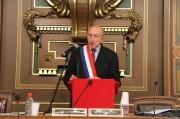 Gérard Collomb, lors de son élection comme maire de Lyon pour la troisième fois. Crédit : PierreMaier/Rue89Lyon.