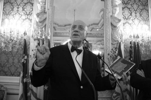 James Ellroy dans les salons de l'Hôtel de Ville de Lyon. ©Pierre Maier/Rue89Lyon