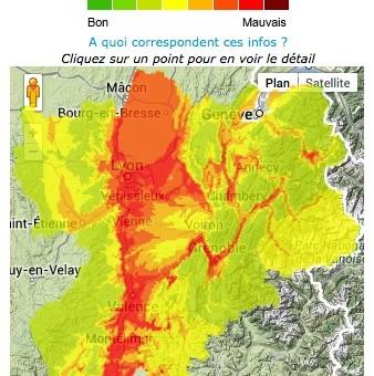 Et revoilà un pic de pollution aux particules fines en Rhône-Alpes