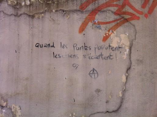 """Graff à Oullins : Quand les punks pogotent les ciens s'écartent - Oï""""."""