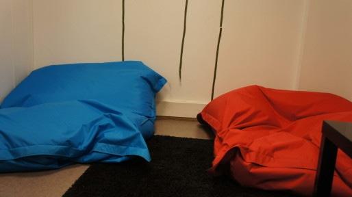 La salle de sieste de l'entreprise Novius à Villeurbanne. © Rue89Lyon