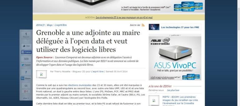 A Grenoble, le maire nomme une adjointe à l'open data et aux logiciels libres