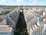 L'avenue Henri Barbusse et ses immeubles aux toits en gradins vue depuis la mairie de Villeurbanne. © Gilles Michalet