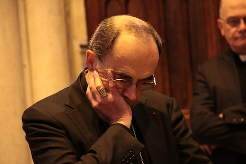 Le cardinal Philippe Barbarin © Pierre Maier/Rue89Lyon