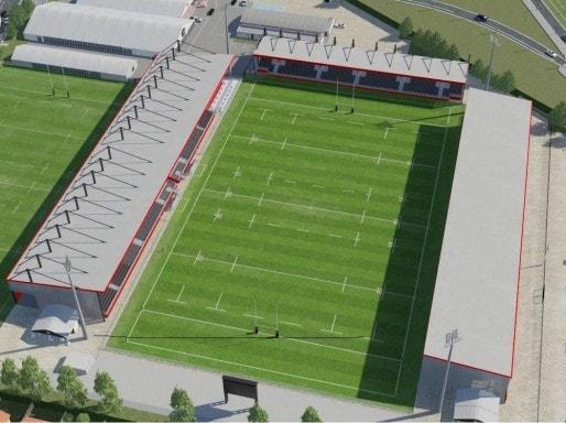 Maquette du futur Matmut stadium, une fois agrandi.