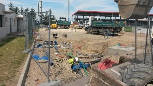 Le Matmut stadium du LOU rugby, en chantier. Juin 2014 © Grégory Macchi.
