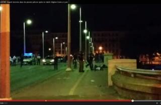 Capture de la vidéo sur la présumée bavure policière après le match Algerie-Corée à Lyon