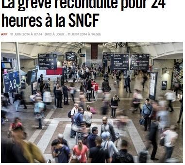 SNCF : La grève des cheminots reconduite pour 24 heures