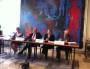 Anne Brugnera, adjointe au maire déléguée aux affaires sociales ; Gérard Collomb maire PS de Lyon, Françoise Moulin Civil, rectrice et Jean-Louis Baglan, inspecteur académique. Crédit : Rue89Lyon.