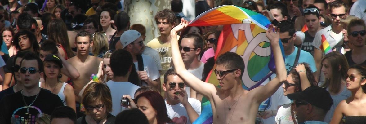 Marche des Fiertés LGBT à Lyon, juin 2012. Crédit : Hétéroclite.