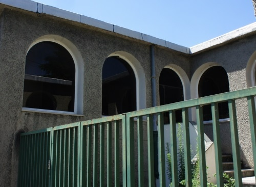 Atrium coupé de la villa