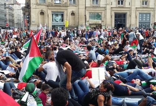 Entre 700 et 1500 personnes pour un quatrième rassemblement pro-palestinien à Lyon