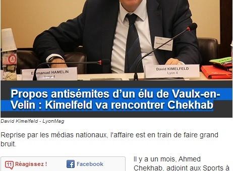 Propos antisémites d'un élu PS de Vaulx-en-Velin : Ahmed Chekhab dans l'oeil du cyclone