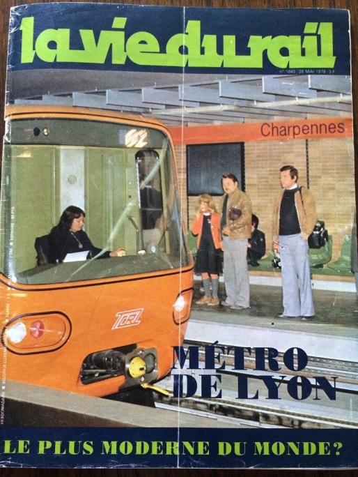 Une du magazine La Vie du rail, n°1645, daté du 28 mai 1978.