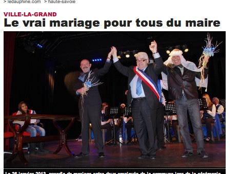 Un maire contre le «mariage pour tous» célèbre l'union de son fils… homosexuel
