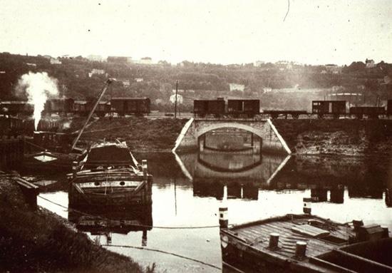 Ancienne gare d'eau de Perrache, vers 1890 © Jules Sylvestre / Service Régional de l'Inventaire de Rhône-Alpes