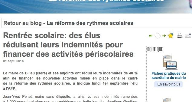 Nouveaux rythmes scolaires : des élus de l'Isère réduisent leurs indemnités pour financer des activités périscolaires