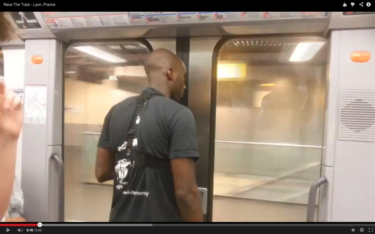 Christopher Zombo plus rapide que le métro.
