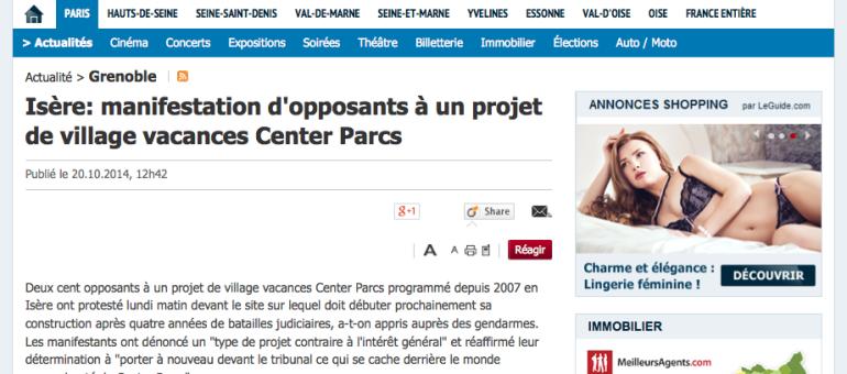 En Isère, manifestation contre le projet d'un village vacances Center Parcs