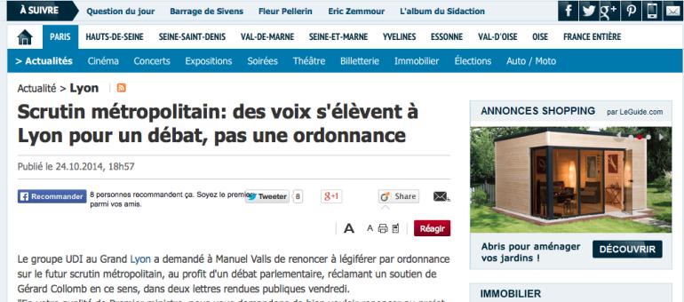 Métropole de Lyon : fronde contre le mode de scrutin