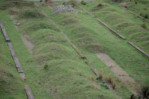 Un terrain aux allures de cimetière qui attend d'être rempli. © E. Soudan
