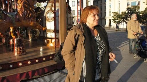 Karen, porte-parole des prostituées, à Lyon, en octobre 2014. ©LB/Rue89Lyon