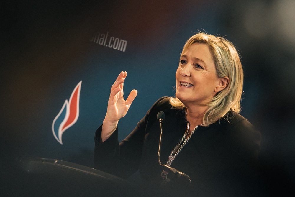 Marine Le Pen au 15è Congrès du Front national à Lyon, les 29 et 30 novembre 2014. Crédit FCaterini-Inediz/Rue89Lyon.