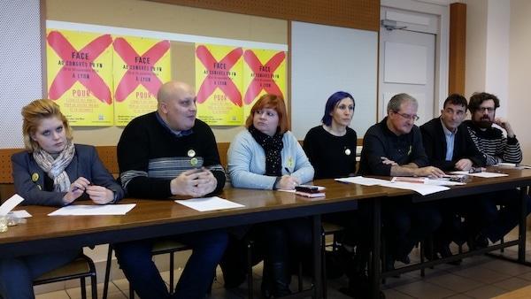 Conférence de presse du week-end de mobilisation contre le FN. ©LB/Rue89Lyon